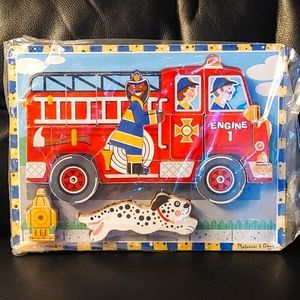 3/$25🔥Melissa and Doug Fire Truck Puzzle